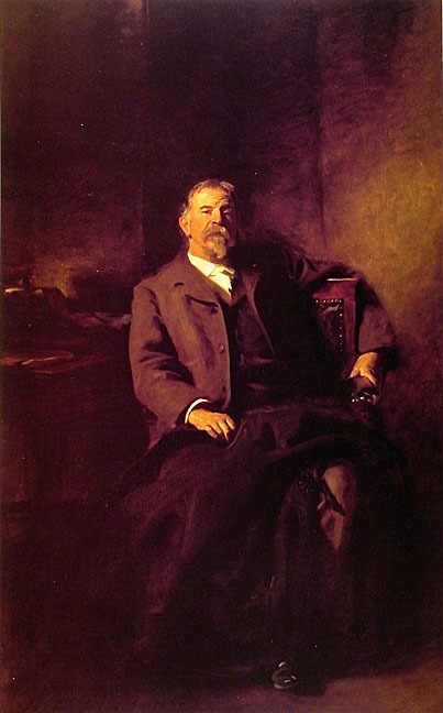 Henry Lee Higginson, painted by Sargent. This portrait still hangs in the Barker Center.