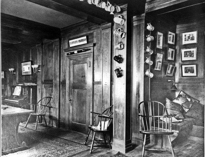 The Sanctum, looking west. Again, this was FDR's picture. Note the beer steins, and the piano at the far right.