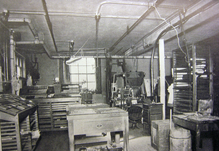 The composing room