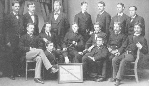 An early photo of the Harvard Glee Club to which FDR belonged