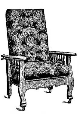 An ad for a period Morris Chair