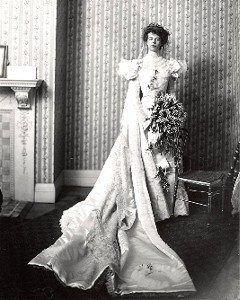 Eleanor on her wedding day, 1905