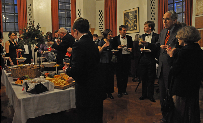 Guests in the Lower Common Room during the Reception