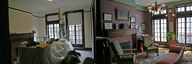 Lest we forgot: the Suite this past February, and this afternoon, August 6, 2010.