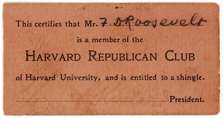Republican Club Card