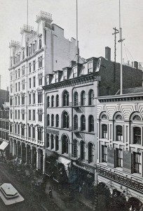 The Victorian iteration. The Adams Hotel is the large whitish building to the left; the 1850s annex is immediately to the right