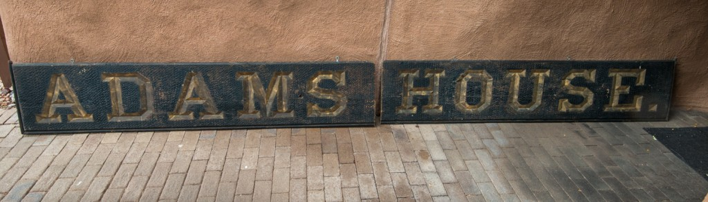 The sign as seen in Santa Fe.